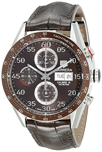 Preisvergleich Produktbild Carrera Brown Dial Chronograph Day/Date Leather Strap