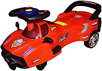 Bluday Ferrari Swing Magic Car with Led Lights and Music on Steering for Kids