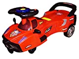 #10: Bluday Ferrari Swing Magic Car with Led Lights and Music on Steering for Kids