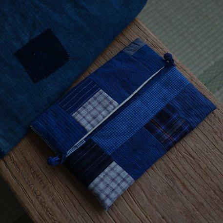JUSTYOU Handgewebter Stoff Tubu blau gebeizt gesteppt Quilting Computer Tasche Laptop Liner Bag, 13-Zoll, Quilten