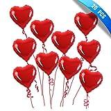 SMARCY Globo en Forma de Corazón Rojo para la Decoración de la Boda y el día de San Valentín 20 PCS