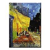 Fridolin 18301Van Gogh Café de Nuit Art Magnet Metall Mehrfarbig 8x 5,4x 0,3cm