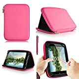 Casezilla A20 17,8 cm Mid aPad ePad netbook tablet universale EVA hard shell Folio tablet case, Pink, Acer Iconia 7 Inch