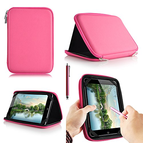casezilla A20 17,8 cm Mid Apad ePad Netbook Tablet Universal EVA Hartschale Folio Tablet Fall rose Alcatel ONE TOUCH POP 7 Tablet (Adjustable Pop)