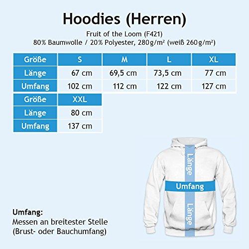Shirt Happenz -  Felpa con cappuccio  - Collo a U  - Uomo Schwarz (Black F421)