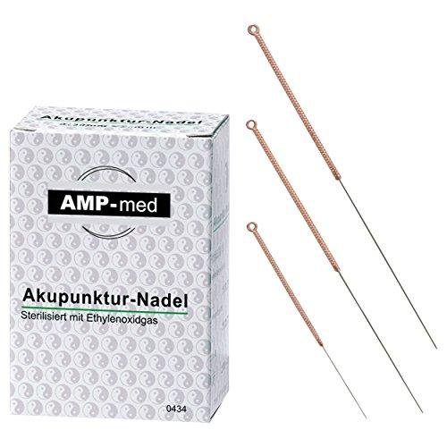 Akupunkturnadeln mit Kupfergriff, Akupunktur, Dauernadeln, 0,25x20 mm