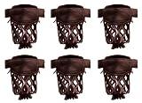 Iszy Billardtisch Billard-Taschen, Leder, Schwarz, Dunkelkirsche oder Karamell, 6 Stück, Dark Cherry