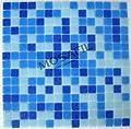 Glasmosaik Fliesen 19x19x4mm Dunkelblau Mix - 1 Matte von Mosafil - TapetenShop