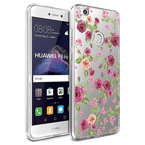 Coque Huawei P8 Lite 2017, Vanki® Créatif Motif Housse Transparente TPU Souple Etui de Protection Silicone Case Soft Gel Cover Anti Rayure Anti Choc pour Huawei P8 Lite 2017 7
