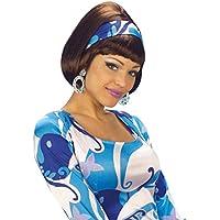 Parrucche di Carnevale in stile Anni 60 70 80 - Parrucca da donna marrone 9039b8f44dec
