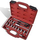 SENLUOWX Diesel Injektor Dichtsitz Fräser Set 17-teilig Kit-Abmessungen: 30 x 22,5 x 6,5 cm (L x B x H)