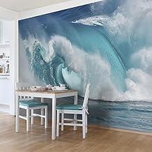Bilderwelten Fotomural Premium - Fieras Ondas del Mar - Mural apaisado papel pintado fotomurales murales pared papel para pared foto 3D mural pared barato decorativo, Tamaño: 290cm x 432cm