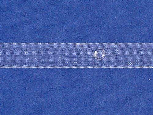 Pieghevole e di tenda a pacchetto con nastri diana anelli 6/10mm–con e senza filo–larghezza: 20mm–5meter, tessuto, trasparente, ohne zugschnur