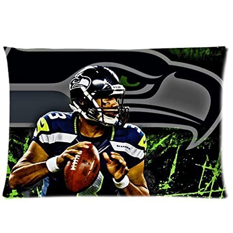 Pillow Case Cover Russel Willis Seattle Seahawks Football Pattern 20*30