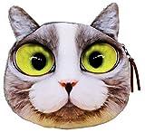 La vogue Geldbörse Katze Muster Mini Geldbeutel Damen Mädchen Kleiner Portemonnaie (Katze)