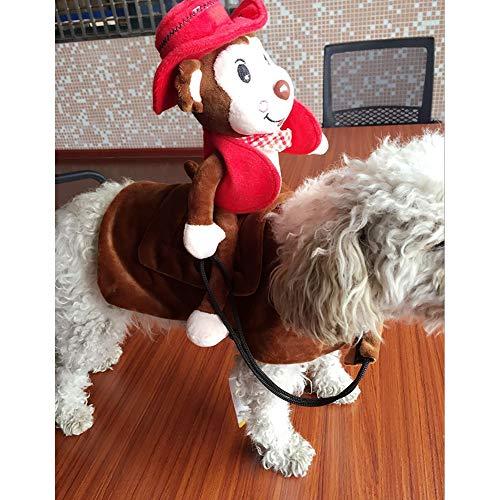 XuBa Haustier Hund Cosplay Kostüm mit AFFE Outfit für Halloween Haustier Kostüm red M (Halloween-kostüme Affe Hund)