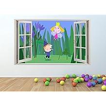 Ben y Holly ventana de vinilo adhesivo decorativo para pared **TAMAÑO GIGANTE**