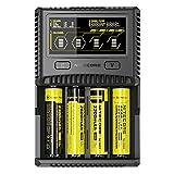 Nitecore SC4-4, alloggiamento Professionale per batterie a Ioni di Litio, NiMH, NiCd Ricaricabili, Display LCD a Colori