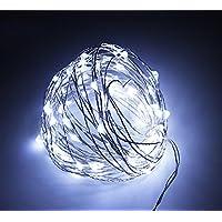 NNIUK 10M LED Starry filo di rame luci leggiadramente della stringa della batteria impermeabile bianco 100 caldo alimentato Ideale per albero di Natale matrimonio giardino decorazioni della festa. - Guardare La Finestra Sul Cortile