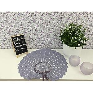 Velvet Romantic Dekoration Collection 101 (Provence Lavander) Häkeln,Skandinavisch, Shabby Chic, Landhaus, Romantische, Design Klassiker Möbel für eine Moderne Elegante Wohnung