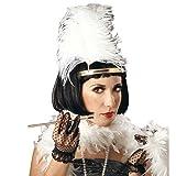 Elegante Schwarze Charleston Perücke für Damen 20er 30er Jahre Mode Perücke Frisur schwarz Charlestonperücke