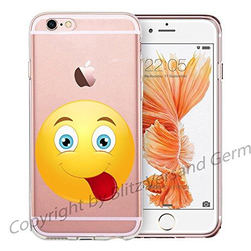 Blitz® EMOJI motifs housse de protection transparent TPE caricature bande iPhone Psssst M11 iPhone 6sPLUS Langue M14