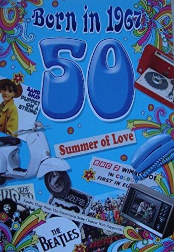 50th Birthday Card 1967 Year you were born Male
