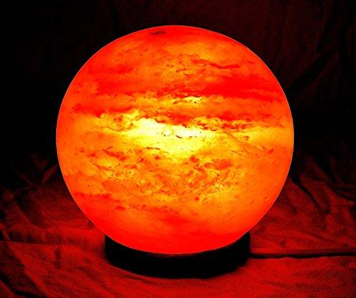 Lampada di sale Salgemma dell'Himalaya Palla DI FUOCO 3- 5 kg CERTIFICATO DI GARANZIA