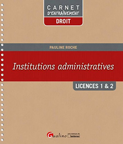 Institutions administratives - L1/L2