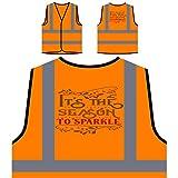 Es la temporada para brillar Chaqueta de seguridad naranja personalizado de alta visibilidad t996vo