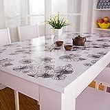 PVC-Kunststoff Transparent Matt Weichem Glas Kristall Platte Tischset Tischauflage Transparent Tischdecke Tischset Tischset (Muster : 18, Größe : 70x120cm(28x47inch))