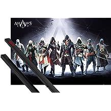 Póster + Soporte: Assassin's Creed Póster (91x61 cm) Desmond Miles, Connor Kenway Y 1 Lote De 2 Varillas Negras 1art1®