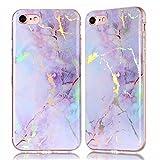 TPU Hülle für iPhone 8, für iPhone 7, Silicone Hülle Marmor Case für iPhone 7 / iPhone 8, ZCRO Schutzhülle für iP