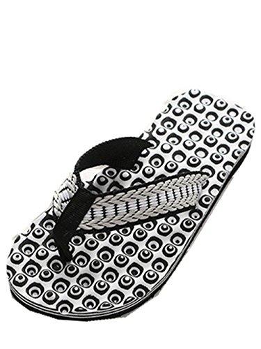 Preisvergleich Produktbild Zehensandale Badelatschen Herren Sandalen Sommer Hausschuhe Zehentrenner Outdoorschuhe Schwimmbadschuhe Beach Strandschuhe Badeschlappen Erwachsene Hausschuhe Dusch Badeschuhe LMMVP (41,  Schwarz)
