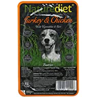 Naturediet Turkey and Chicken with Vegetables and Rice Dog Food Tray, 18 x 390 g
