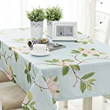 Qiao jin Tischdecke Rechteckige Tischdecken - Baumwolle/Leinen / Couchtisch/Esstisch / Küche/Kaffeetisch Tischdecke frische und natürliche, atmungsaktive Haut 90 * 130cm