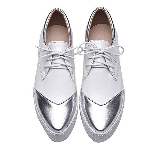 MissSaSa Donna Scarpe Senza Tacco Casual Shoes Bianco