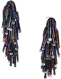 Bellofox 'Beads 1.0' Statement Style Dangle-Drop Statement Earrings For Women & Girls -Stud Earrings For Women...