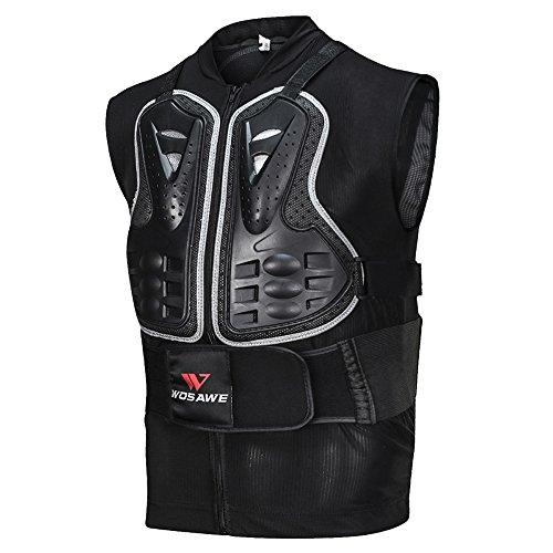 Lixada Herren Motorrad Rüstung Weste Motorrad MTB Fahrrad Reit Brust Rüstung Rückenprotektor Motocross Racing Weste