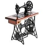 B Blesiya Juguete de Simulación Modelo Máquina de Coser de Aleación Marrón en Miniatura Fundido a Presión Decoración de Escritorio Hogar Regalo de Niños
