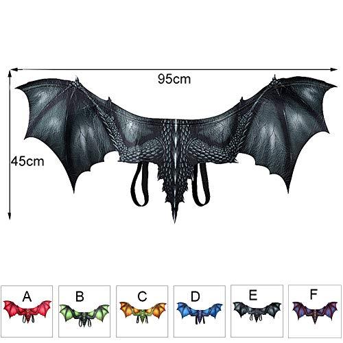 FYYTRL Halloween Kostüm Drachenflügel, Adult Dragon Costume Wings Cosplay, Einheitsgrösse,E