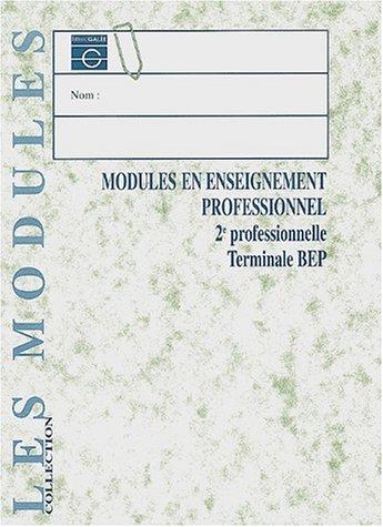 Module d'enseignement professionnel BEP,livre de l'élève par Doussy