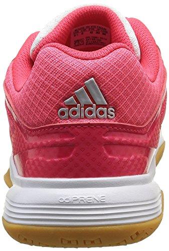 adidas Speedcourt W, Chaussures de Handball Femme Blanc - Weiß (Weiß/Silber/Rot)