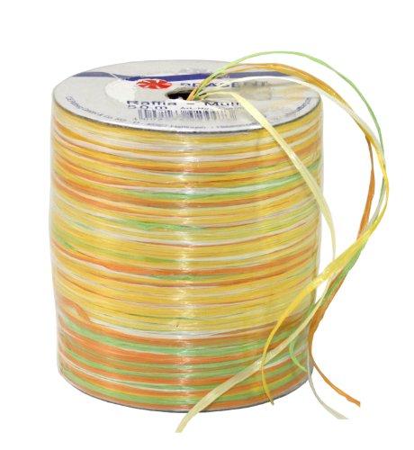 Unbekannt Geschenkband Bast 50m gelb sortiert