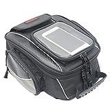 Motorrad Tasche Wasserdicht Tank Beutel Umhängetasche Motorradtasche mit Starkem Magnetischem für Motorrad Motorcross 10L