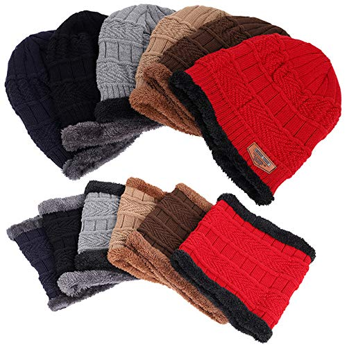 Imagen de chmhy  sombrero de hombre de lana de invierno + gorro de malla de terciopelo con tirantes  sombrero de dos piezas marrón alternativa