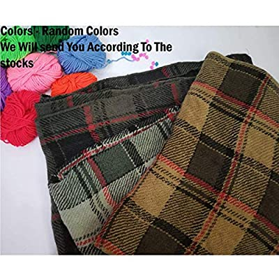 Grab Offers Winter Wear Warm Lightweight Women's Checkered Stoles(Random Design- Color - 1 Pcs)