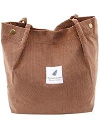 2c2e7d100f315 SEVENHOPE Frauen Cord Handtasche Schultertasche Tote Geldbörse Lässig  Einkaufstasche Mode Große Kapazität Umhängetasche