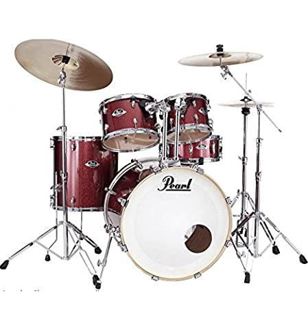 Batterie Pearl Export Fusion 20'' 5 fûts - Black Cherry Glitter