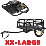 Skiiddii Foldable 20300 Bike and Bicycle Trailer - Black, 60 kg